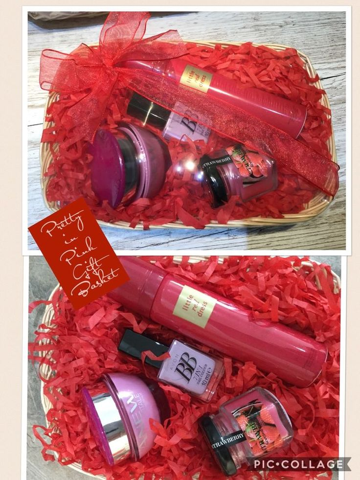 Pretty In Pink Gift Basket Valentine Mothers Day Hospital Woman's Avon Skincare  | eBay