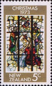 Three Kings, stained-glass in the St. Therese Church