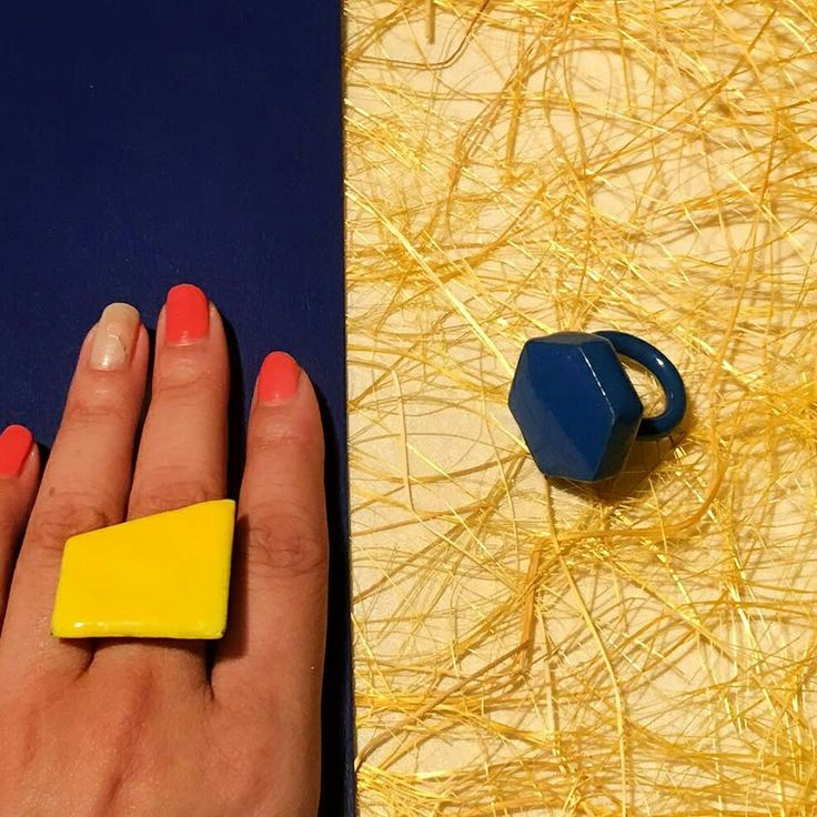 #Vaidaan #vaidaanjewellery #jewellery #rings #geometric #geometry #designer #trend #fashion #girls #blue #yellow #party #casual