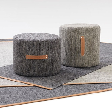 Bjork pouffe and rug - cotton and wool