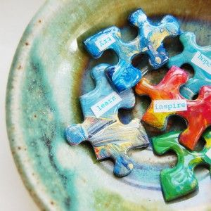 Upcycled and Recycled Ideas for Puzzles | Handmade Jewlery, Bags, Clothing, Art, Crafts, Craft Ideas, Crafting Blog