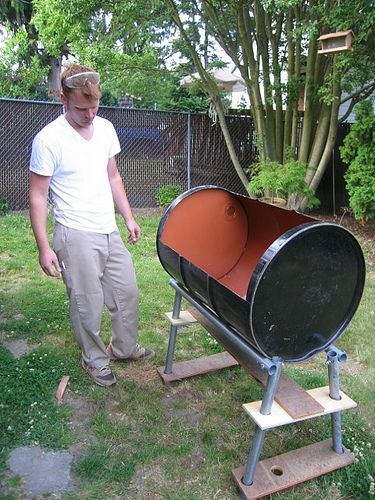 55 gallon drum grill - DIY