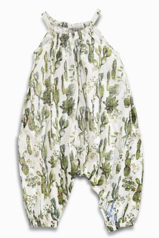 Buy Green Cactus Print Playsuit (3mths-6yrs) from the Next UK online shop £10