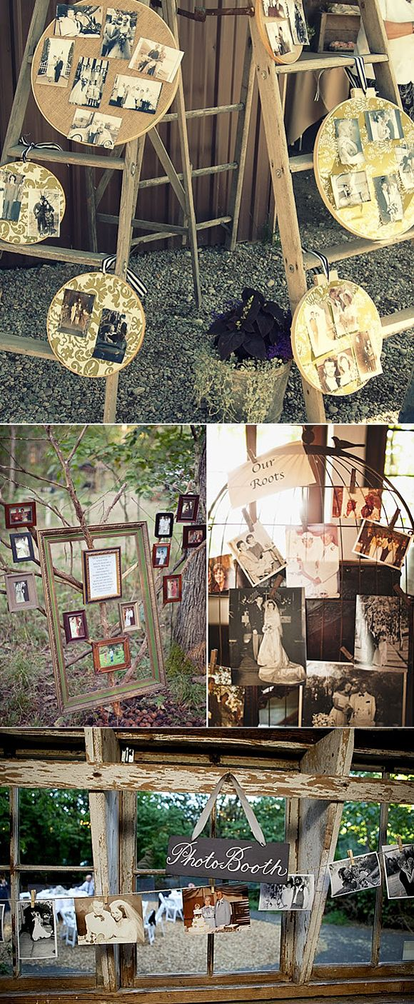 Decoración de bodas con fotos de los novios Wedding ideas with photos