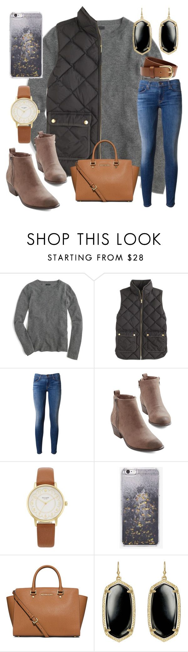"""went to church this morning"" by ctrygrl1999 ❤ liked on Polyvore featuring J.Crew, Hudson, Kate Spade, Skinnydip, MICHAEL Michael Kors, Kendra Scott and H&M"