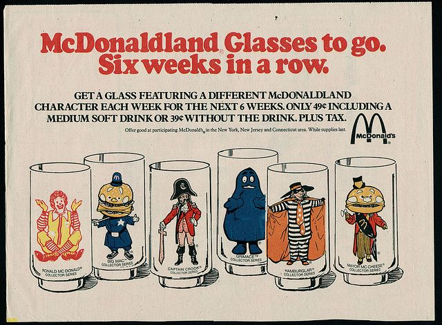 McDonalds - McDonaldland Glasses - Weekend Newspaper ad - 1970s by JasonLiebig, via Flickr