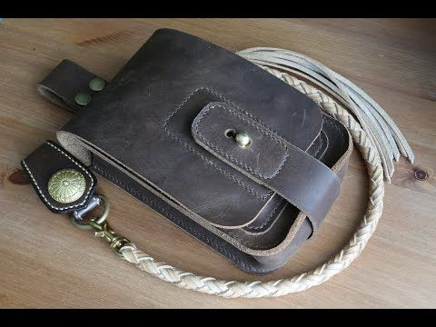 Making a leather waist bag - YouTube
