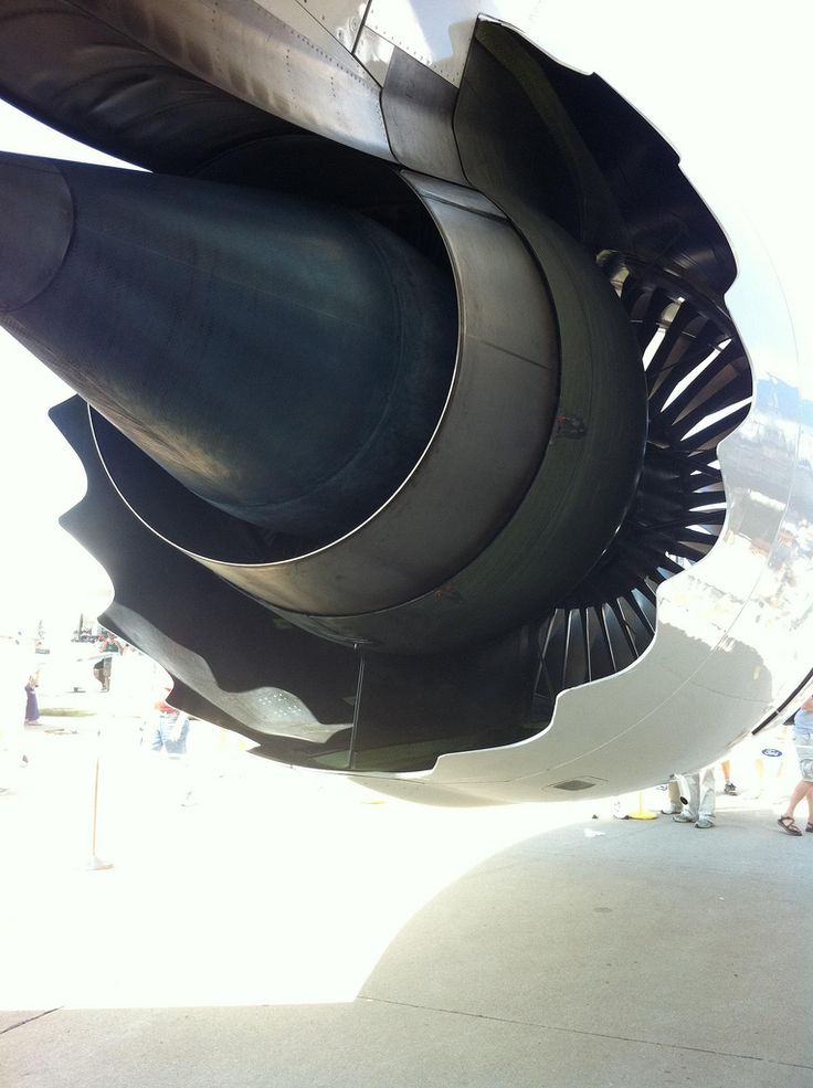 The Rolls Royce Trent 1000 high-bypass Turbofan engine of Boeing 787 Dreamliner.