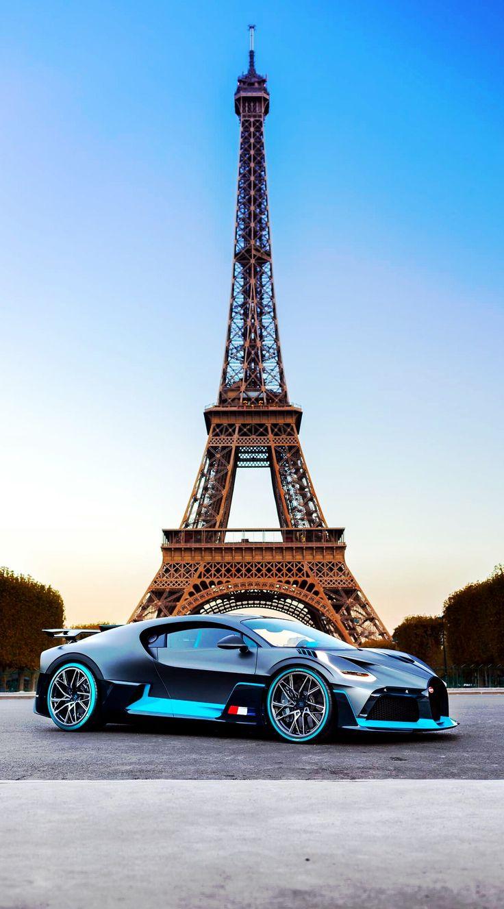 (°!°) 2019 Bugatti Divo on the Eiffel Tower, enhanced by Keely VonMonski