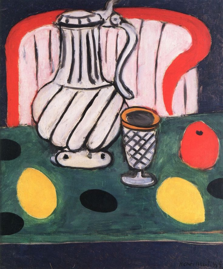 Henri matisse pitcher lemon armchair 1939 konst for Matisse fenetre ouverte collioure