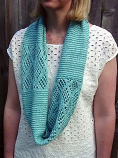 FREE PATTERN Blue Glacier incorporates the garter stitch with the Checkerboard Mesh pattern…one that I have long admired.