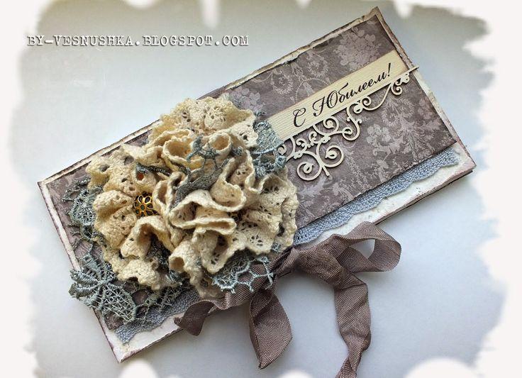 Бумажные разности: Винтажно-романтичный конвертик и ответы для Анны