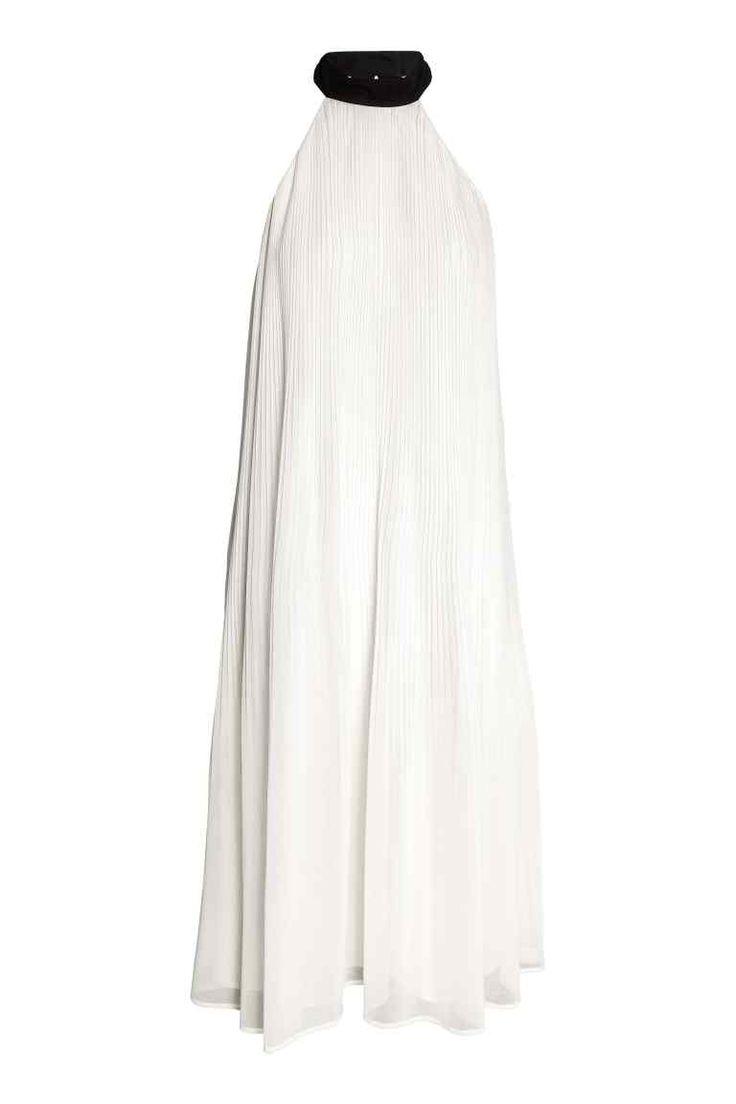 Pliseerattu mekko - Luonnonvalkoinen - Ladies | H&M FI