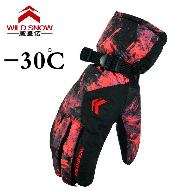 outdoor Sport Ski Gloves Brand Men's Ski Gloves Male Snowboard Gloves Motorcycle Winter Windproof Waterproof unisex snow gloves