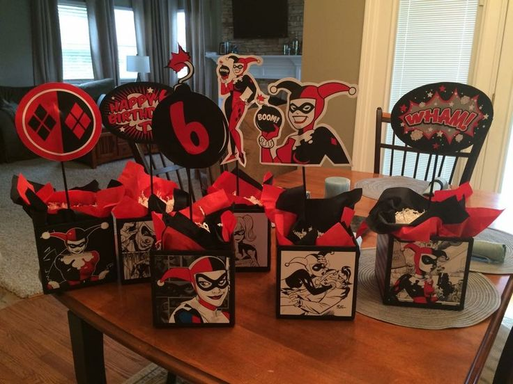 1000 images about my party on pinterest avenger party for Harley quinn bedroom ideas