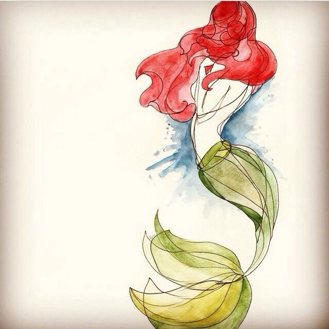 Watercolor mermaid