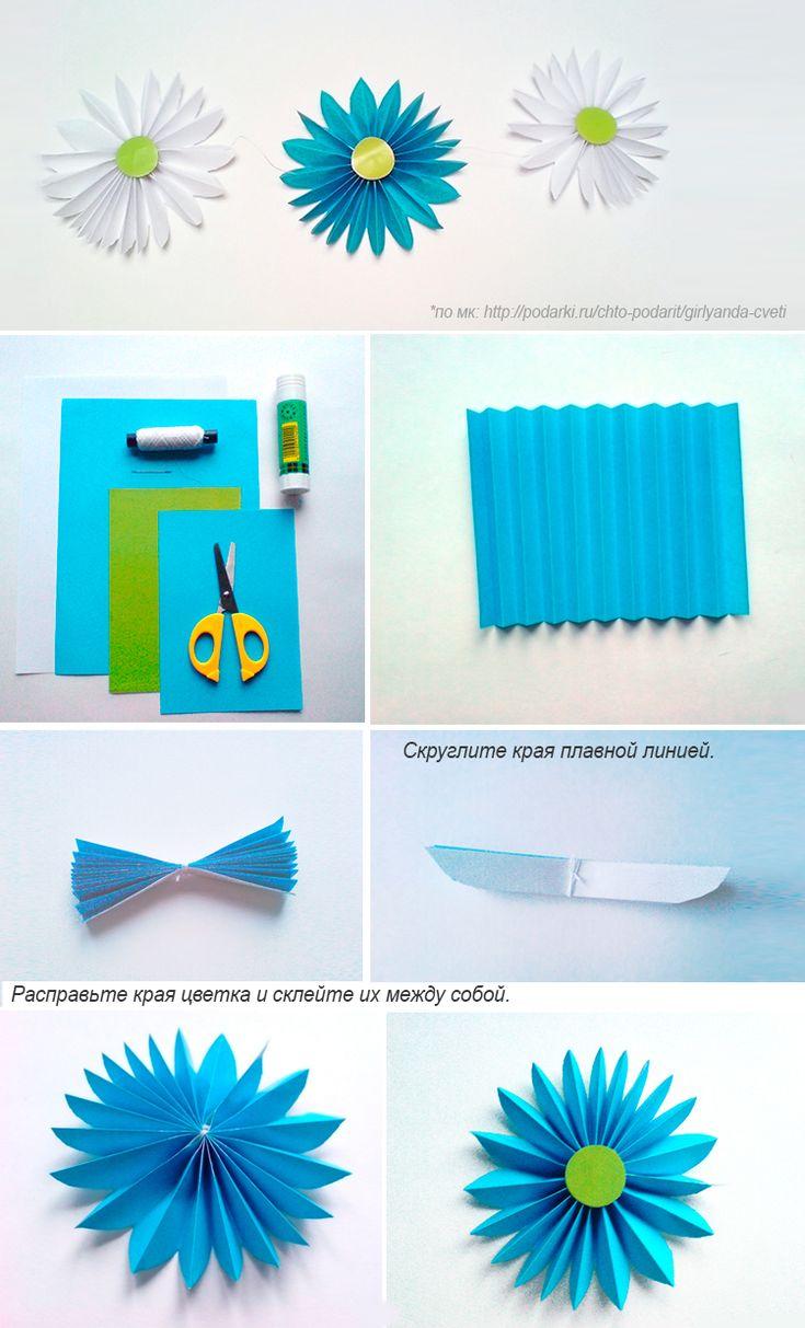Надписью про, как сделать цветок из бумаги на открытку быстро