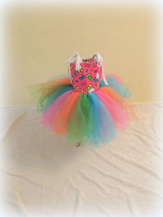 Tutu dress Hello Kitty  tutu dresshello by TutusCurlsAndPearls