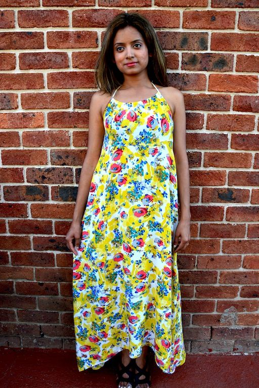 Cute sun dress which will cheer up your day! Very girlie print on soft cotton, great for those lazy picnics by the beach or romantic beach walks :) Available from www.axori.com.au
