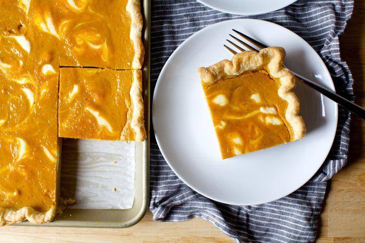 cheesecake-marbled pumpkin slab pie – smitten kitchen. Made nov 2016 - amazing!