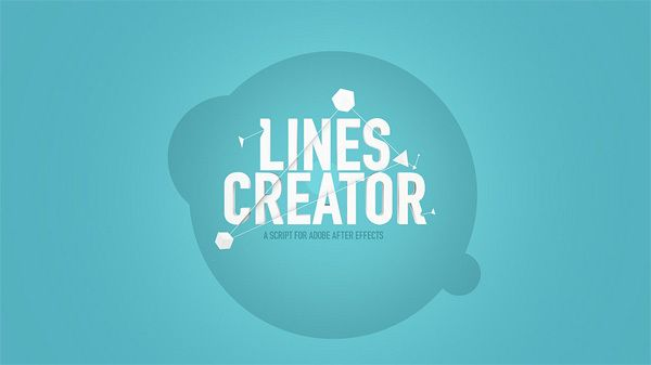 Lines Cretaor - a script for after effects by Jelio Dimitrov, via Behance