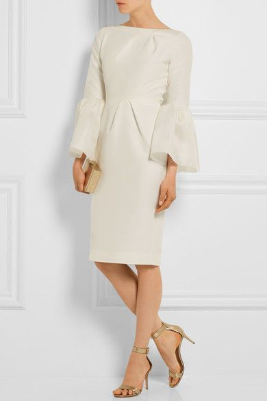 Ivory cotton and silk-blend Two-way zip fastening through back 60% cotton, 40% silk; lining: 100% silk Dry clean Made in England