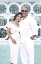 Gloria and Emilio Estefan's fabulous Costa d'Este Beach Resort!   Fabulous pool area with bar and music....yes Mojitos....