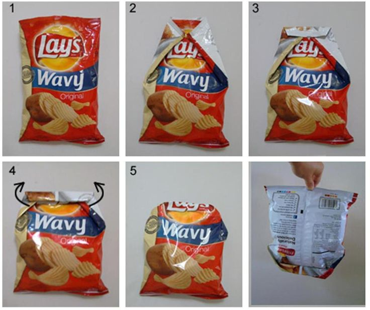 MyFridgeFood - Seal Chip bags without a Chip Clip It took me a couple of tries, but it does work!