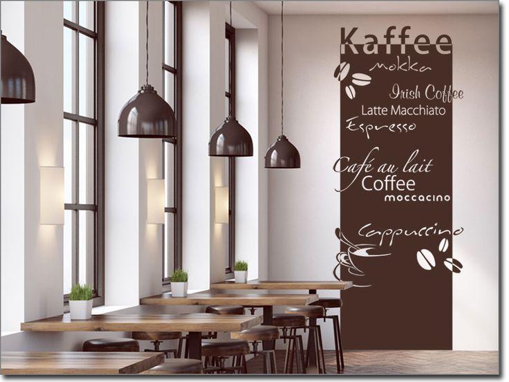Amazing Wandtattoo Banner Kaffe f r die Wand im Restaurant