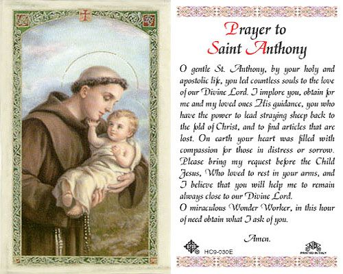 Saint Anthony prayer