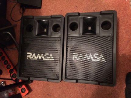 RAMSA-panasonic WS A200E & YAMAHA SW 500 aktiv in Baden-Württemberg - Ulm   Musikinstrumente und Zubehör gebraucht kaufen   eBay Kleinanzeigen