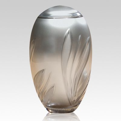 Crystal Bloom Glass Cremation Urn
