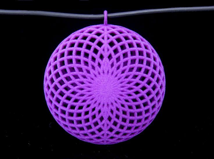 Purple Flower Pendant designed by Quark Jewelry Creator #mixeelabs #3dprinted #jewelry