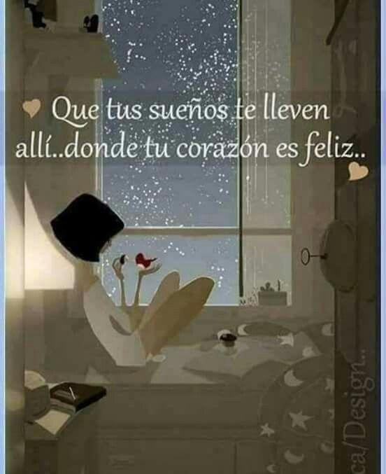 Que tengas linda noche... llena de paz y tranquilidad... permite que Dios guie tus sueños y que te permita dar una mejor vision del mañana ... Dios te bendiga a ti y a cada una de tu familia .. dulces sueños