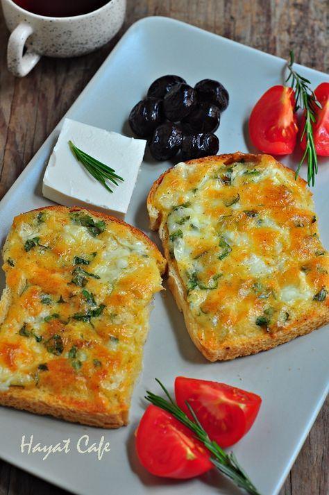 Hayat Cafe » » Fırında Kahvaltılık Peynirli Ekmek   Kolay Pratik Tarifler