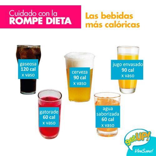 Las bebidas más caloricas