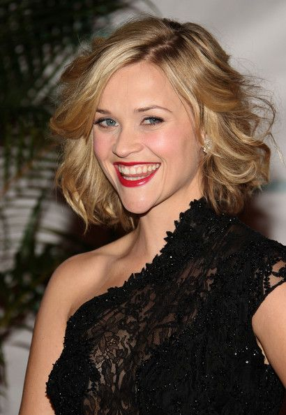 Curly short hair- good hair style for homecoming with the one shoulder bare - this reminds me of Madisons smile and her blonder hair, pretty face @Karen Jacot Swaim