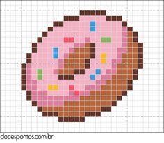 perler beads pattern simpsons donut - Google Search