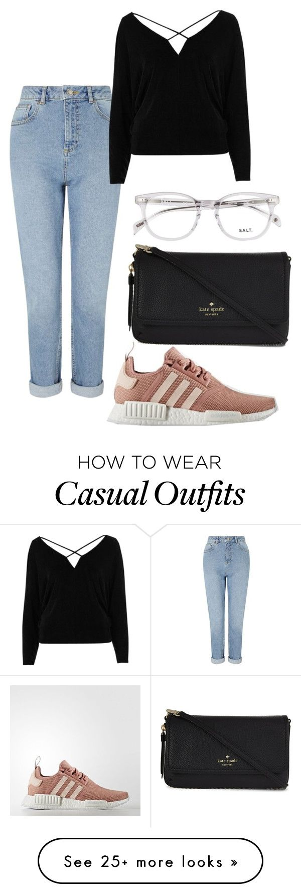 """casual."" by aamiengu on Polyvore featuring Miss Selfridge, River Island, adidas and Kate Spade"