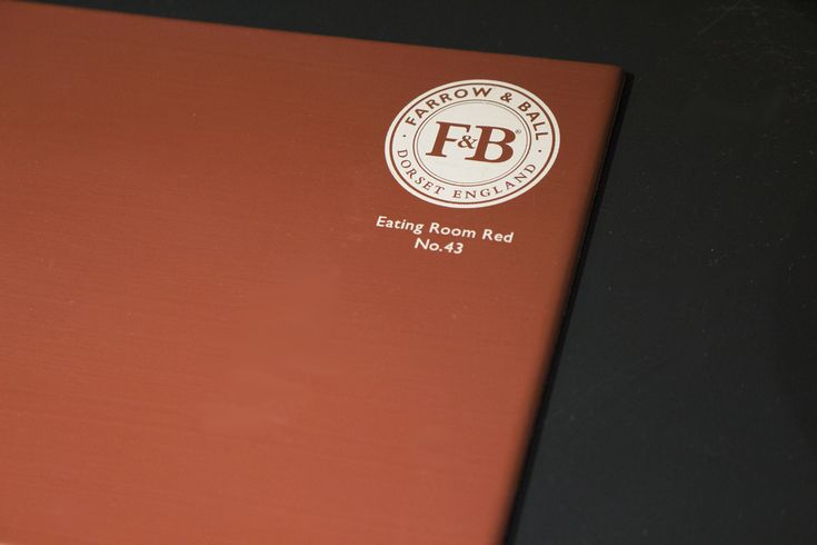 Eating Room Red No. 34 by Farrow&Ball