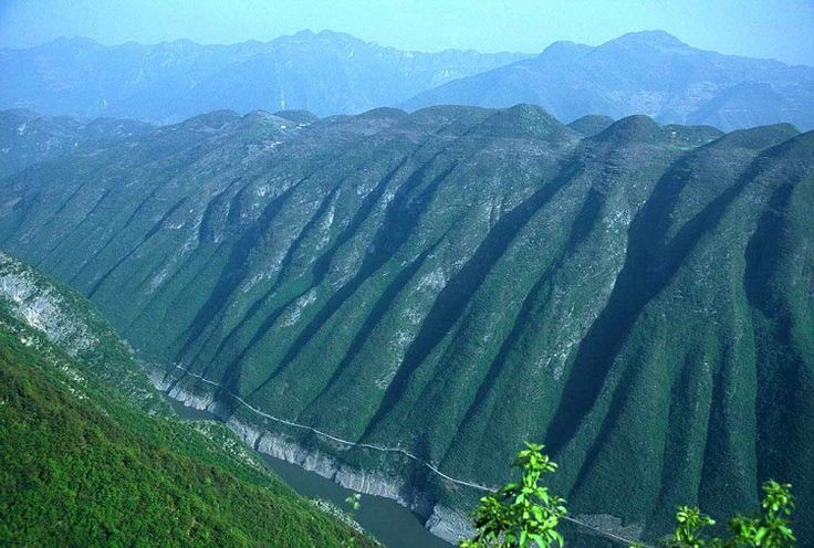 Big mountains around the River
