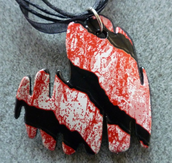 Monster Energy Brush Stroke Heart Necklace by NakedCuppiecakes, $15.00