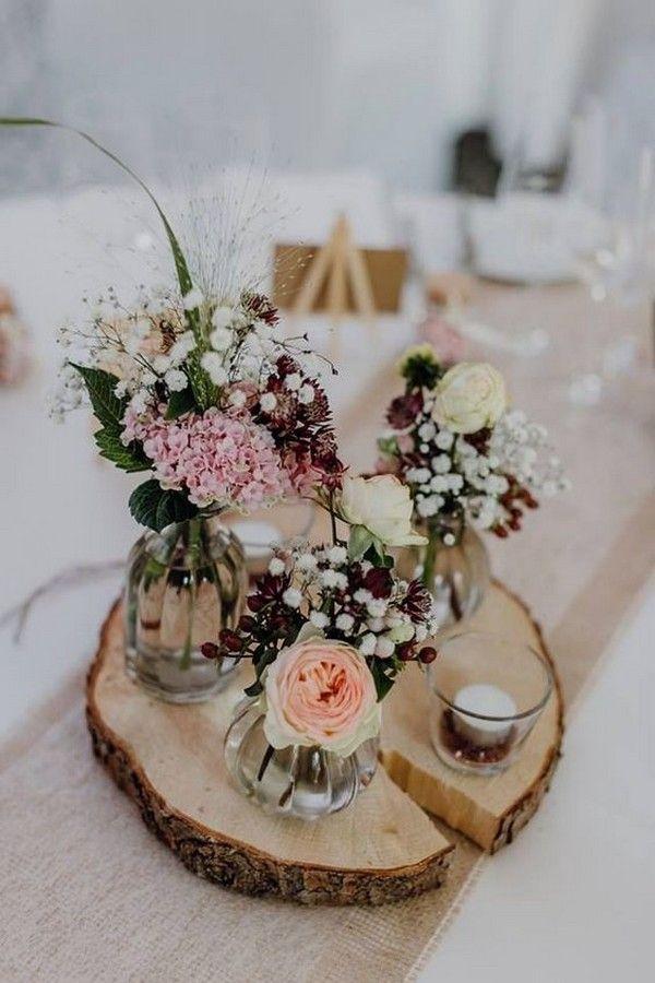18 Chic Rustic Wedding Centerpieces With Tree Stumps Emmalovesweddings Diy Vintage Wedding Rustic Wedding Diy Wedding Centerpieces Diy