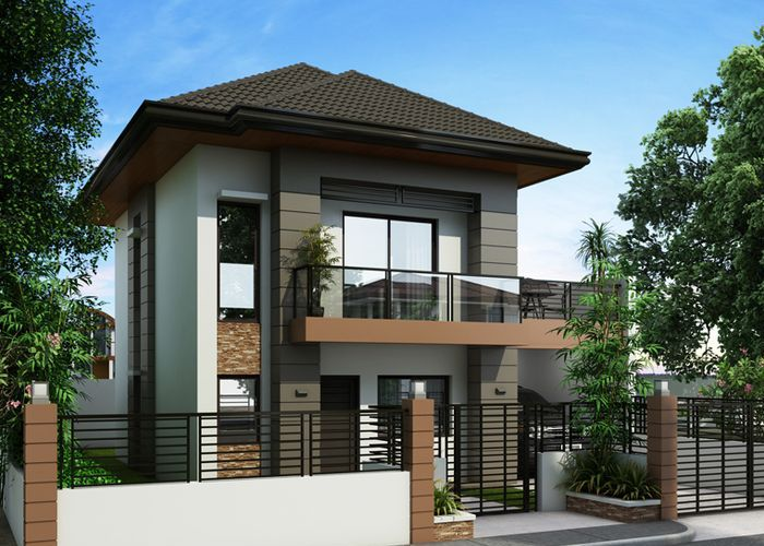 Model Rumah Minimalis 2 Lantai Terbaru 2018 2 Storey House Design Two Story House Plans House Front Design
