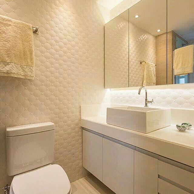 Mais de 1000 ideias sobre Porcelanato Portinari no Pinterest  Porcelanato, P -> Banheiro Pequeno Cor Clara