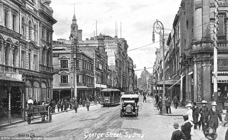 George St,Sydney in 1906.