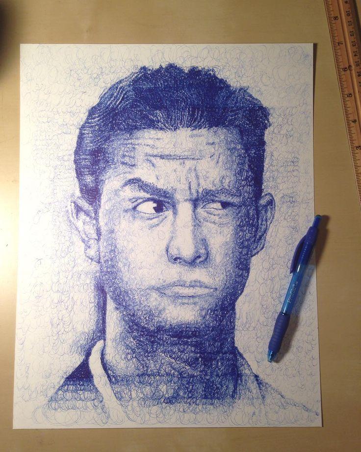 Ballpoint pen drawing ... Joseph Gordon Levitt