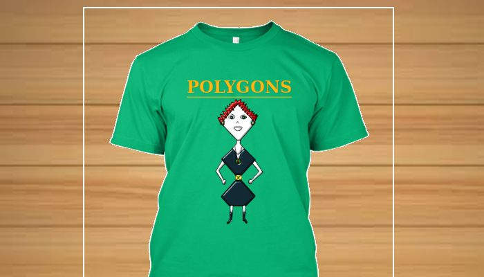 Camiseta original personagens Familia Polygons -Losangela