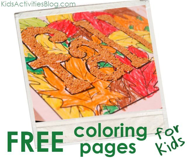 Printable Coloring Pages - Fall, Leaves & Scarecrows... AND ideas on how to encourage creativity with them
