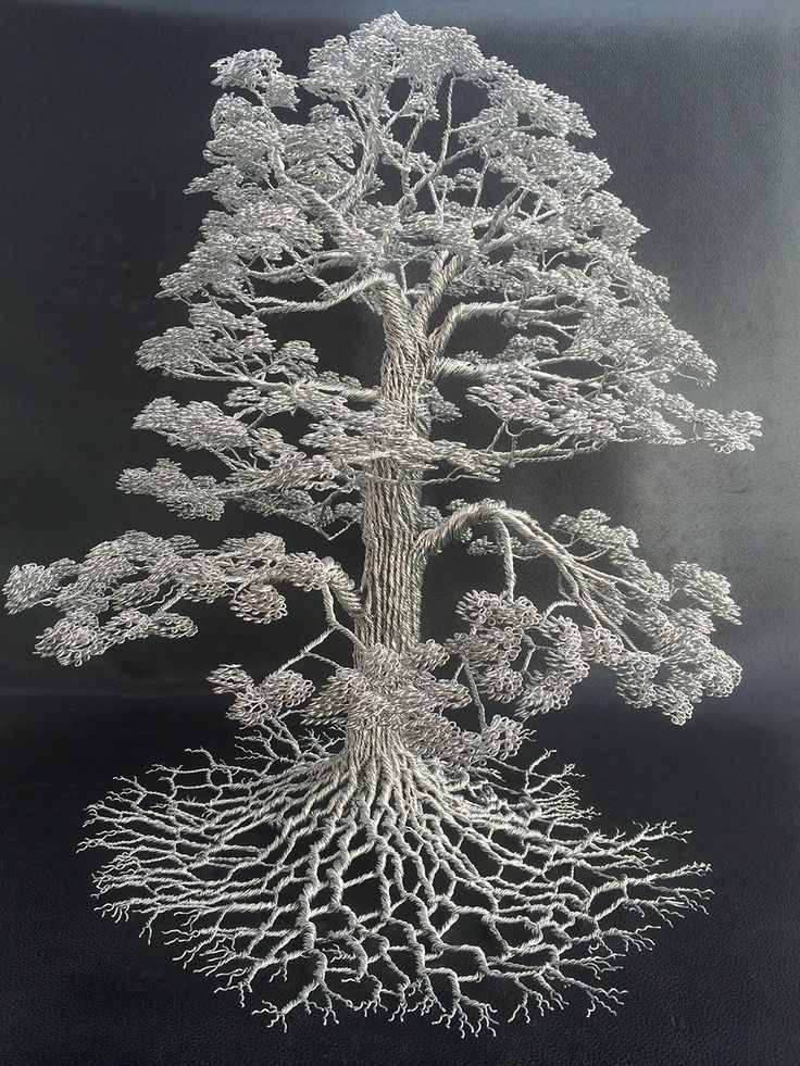 Clive Madison is a wire sculptor - something of an ambiguous term, until you sample his work. Madison works with only full length wire strands, never cut, glued, or soldered, but twisted into beautiful manifestations of nature's giants. Each work rests on a representative block of wood, from which these wires flow, like roots themselves, into incredibly detailed trees of all kinds. He's currently represented at Lee Champman Gallery, and his full collection can be seen here.